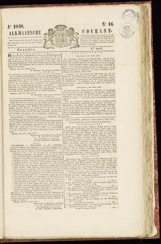 Alkmaarsche Courant 1848-04-17