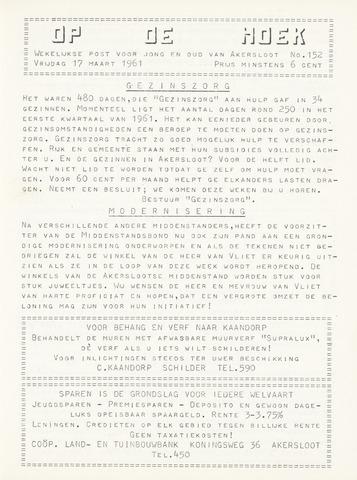 Op De Hoek, weekblad voor Akersloot 1961-03-17