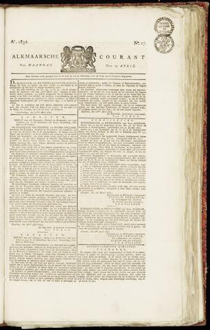 Alkmaarsche Courant 1832-04-23