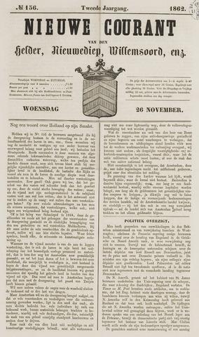 Nieuwe Courant van Den Helder 1862-11-26