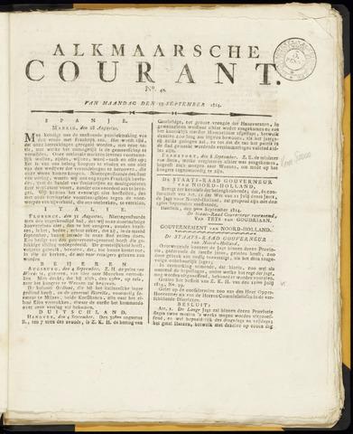 Alkmaarsche Courant 1814-09-19
