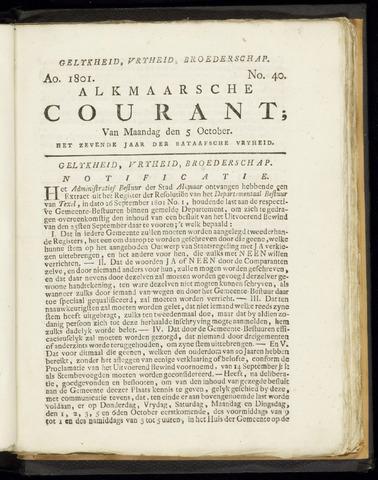 Alkmaarsche Courant 1801-10-05