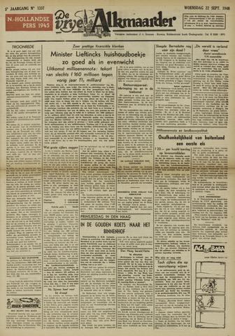 De Vrije Alkmaarder 1948-09-22