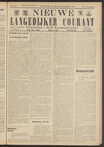 Nieuwe Langedijker Courant 1932-09-22