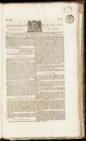 Alkmaarsche Courant 1831-07-04