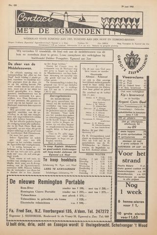 Contact met de Egmonden 1961-06-29