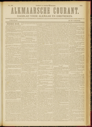 Alkmaarsche Courant 1918-11-29