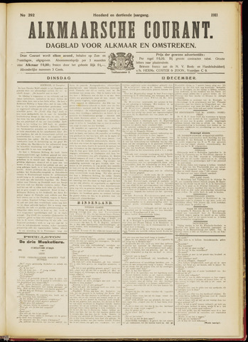 Alkmaarsche Courant 1911-12-12
