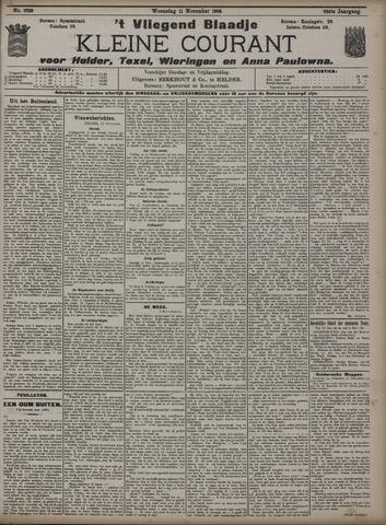 Vliegend blaadje : nieuws- en advertentiebode voor Den Helder 1908-11-11
