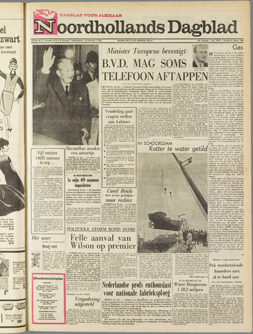 Noordhollands Dagblad : dagblad voor Alkmaar en omgeving 1963-10-25