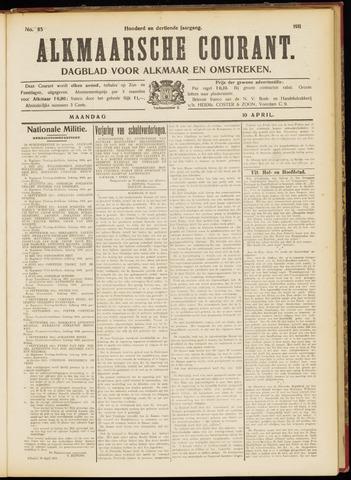Alkmaarsche Courant 1911-04-10