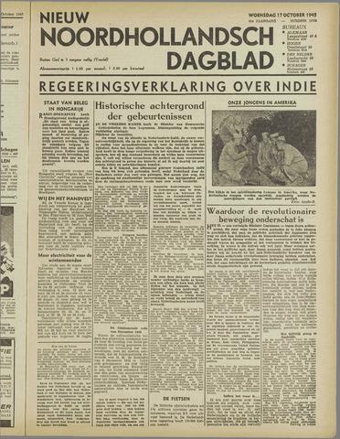 Nieuw Noordhollandsch Dagblad : voor Alkmaar en omgeving 1945-10-17
