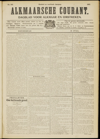 Alkmaarsche Courant 1912-07-11