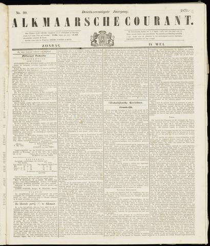 Alkmaarsche Courant 1871-05-14