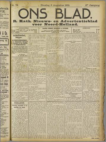 Ons Blad : katholiek nieuwsblad voor N-H 1912-08-06