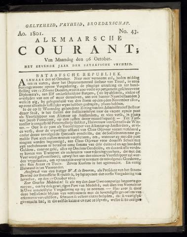 Alkmaarsche Courant 1801-10-26