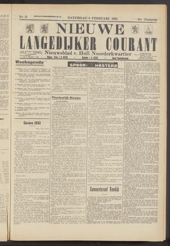 Nieuwe Langedijker Courant 1932-02-06