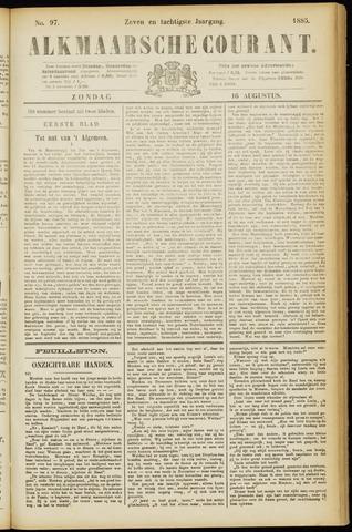 Alkmaarsche Courant 1885-08-16