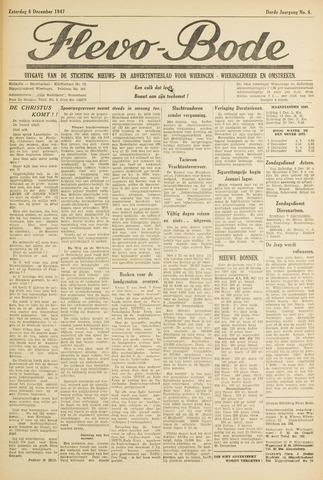 Flevo-bode: nieuwsblad voor Wieringen-Wieringermeer 1947-12-06