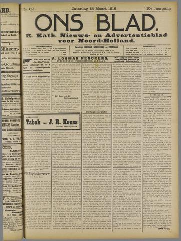 Ons Blad : katholiek nieuwsblad voor N-H 1916-03-18