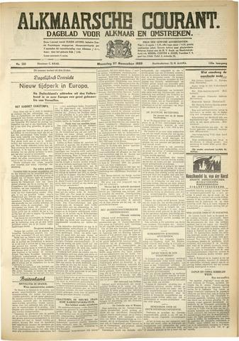 Alkmaarsche Courant 1933-11-27
