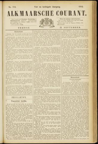Alkmaarsche Courant 1882-09-22