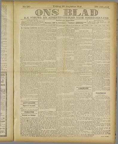 Ons Blad : katholiek nieuwsblad voor N-H 1919-08-22