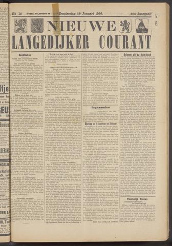 Nieuwe Langedijker Courant 1926-01-28