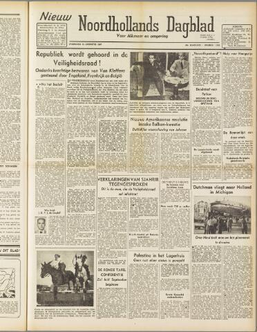 Nieuw Noordhollandsch Dagblad : voor Alkmaar en omgeving 1947-08-13