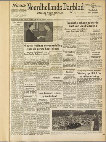Nieuw Noordhollandsch Dagblad : voor Alkmaar en omgeving 1952-09-01