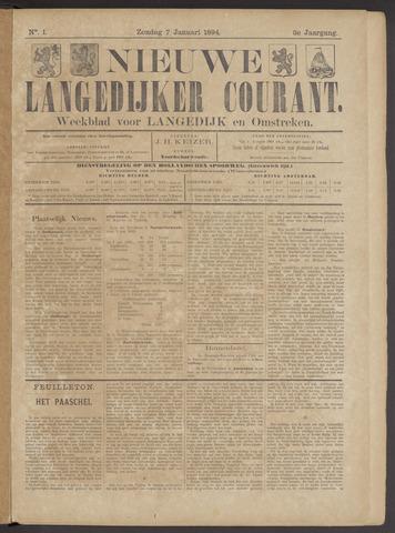Nieuwe Langedijker Courant 1894