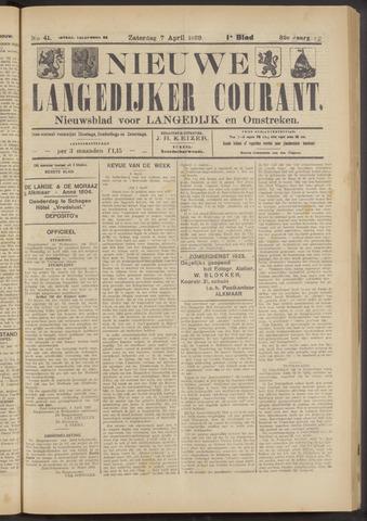 Nieuwe Langedijker Courant 1923-04-07