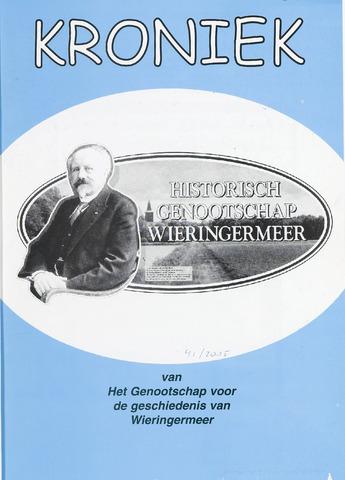 Kroniek Historisch Genootschap Wieringermeer 2005-08-01