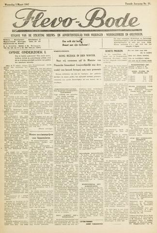 Flevo-bode: nieuwsblad voor Wieringen-Wieringermeer 1947-03-05