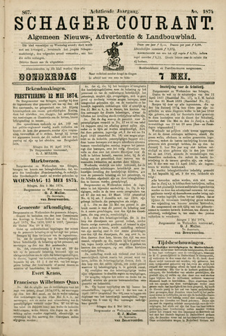 Schager Courant 1874-05-07