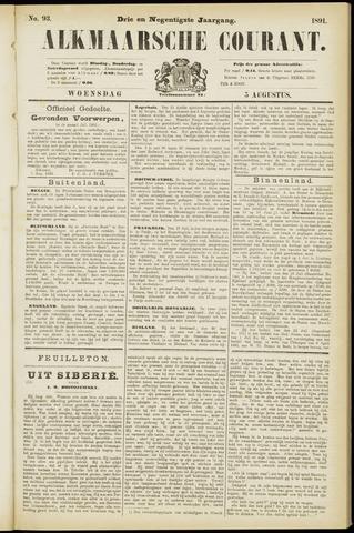 Alkmaarsche Courant 1891-08-05