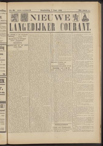 Nieuwe Langedijker Courant 1923-06-07