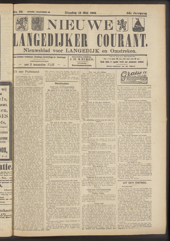Nieuwe Langedijker Courant 1925-05-19