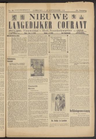 Nieuwe Langedijker Courant 1933-09-28
