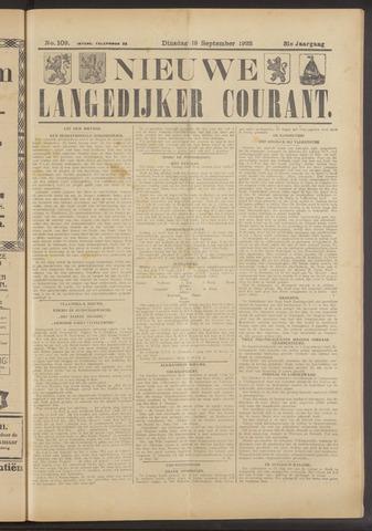 Nieuwe Langedijker Courant 1922-09-19