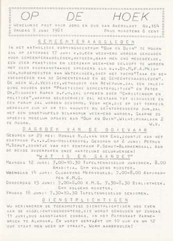 Op De Hoek, weekblad voor Akersloot 1961-06-09