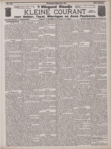 Vliegend blaadje : nieuws- en advertentiebode voor Den Helder 1912-09-18