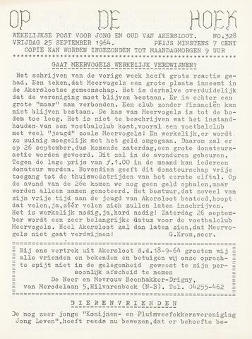 Op De Hoek, weekblad voor Akersloot 1964-09-25