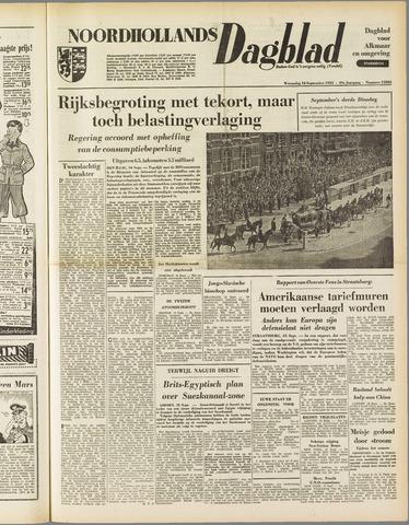 Noordhollands Dagblad : dagblad voor Alkmaar en omgeving 1953-09-16