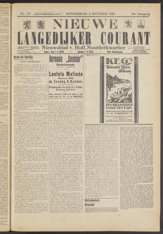 Nieuwe Langedijker Courant 1930-10-02