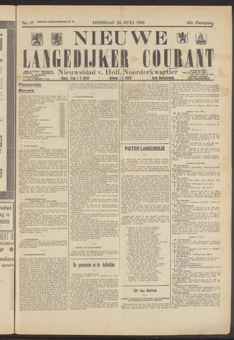 Nieuwe Langedijker Courant 1933-07-25