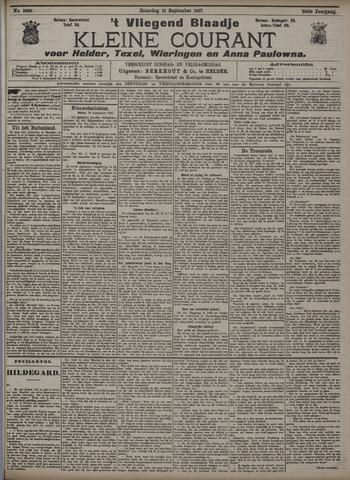 Vliegend blaadje : nieuws- en advertentiebode voor Den Helder 1907-09-21