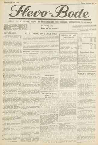 Flevo-bode: nieuwsblad voor Wieringen-Wieringermeer 1949-06-18