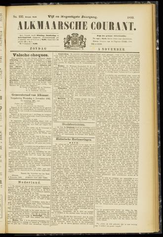 Alkmaarsche Courant 1893-11-05