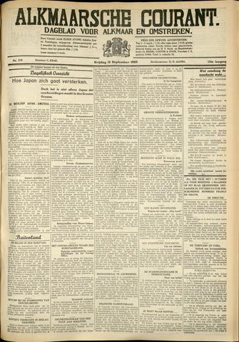 Alkmaarsche Courant 1933-09-15